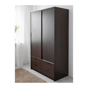 Wardrobe w sliding doors/4 drawers