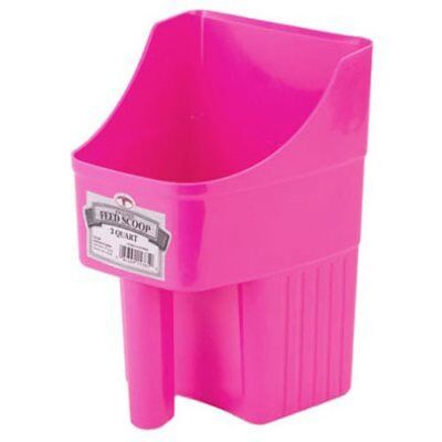 Little Giant 3-Quart Enclosed Feed Scoop Hot Pink Miller Enclosed Feed Scoop