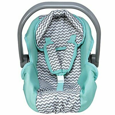 Doll Toy Infant Car Seat Blue Gray Kids Girls Pretend Play Doll Accessory