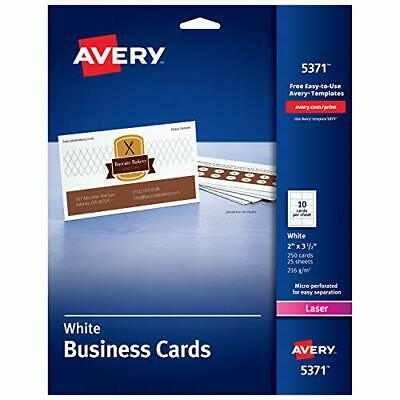 Avery Printable Business Cards Laser Printers 250 Cards 2 X 3.5 5371
