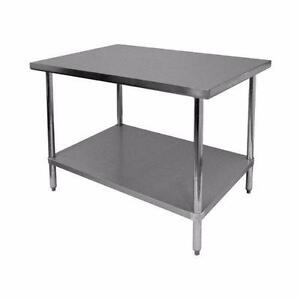 GSW Commercial Flat Top Work Table with Stainless Steel Top NEW