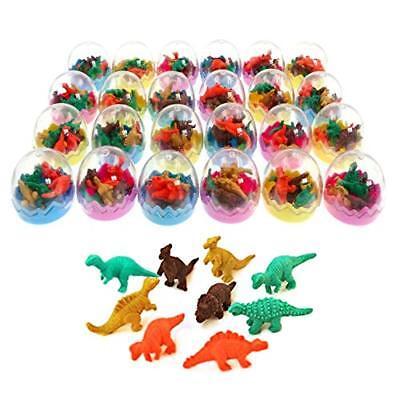 JZK 24 Uova di dinosauro giocattolo con piccolo dinosauro gomma cancellare ma...