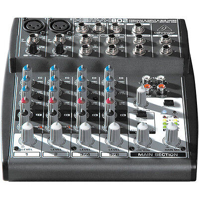 NEW Behringer XENYX 802 8-Input Mixer Board +48V phantom, Power Supply included.. Buy it now for 89.99