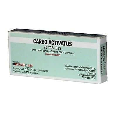 Carbo activatus 250mg azithromycin