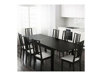 IKEA BJURSTA Large Dining Table in Black/Brown
