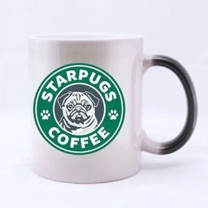 Star Pugs 11oz Coffee RINGER mug with black handle