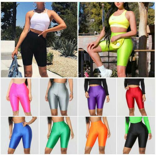 Women Stretch Biker Bike Shorts Workout Spandex Leggings Kne