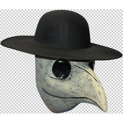 Plague Doctor Full Head Latex Halloween Fancy Dress Adult Hat Not Included - Plague Doctor Hat