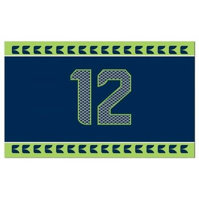 Seattle Seahawks Flag 12th Man 2'x 3' NFL Premium banner Blue Green  - Seahawks Banner