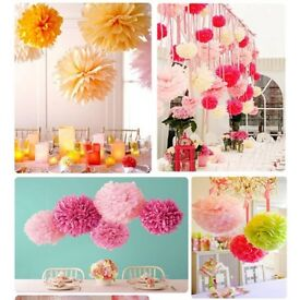 Brand new fine Birthday decoration, tissue Pom Pom