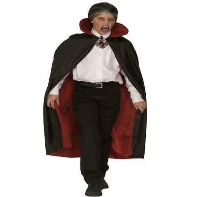 Deluxe WENDE UMHANG mit KRAGEN  Dracula, Teufel - Deluxe Vampir Kind Kostüme