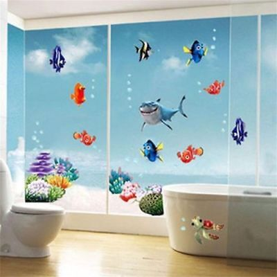 Finding Nemo Wall Sticker Wall Decal Sea World Fish Art Bathroom Wall Decor USA - Finding Nemo Wall Decals