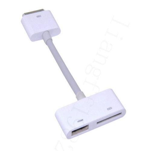 hdmi cable for iphone 4s ebay. Black Bedroom Furniture Sets. Home Design Ideas