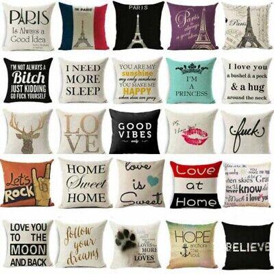 Funny words cushion cover pillow case cover waist throw sofa