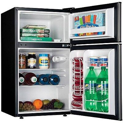 Compact 3.2 cu ft Refrigerator Mini Freezer 2 Door College Dorm Home Office NEW
