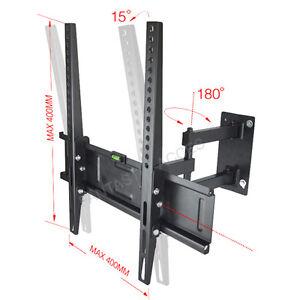 LCD TV WALL BRACKET MOUNT TILT SWIVEL For Samsung Sony LG Panasonic 26 32 40 42+
