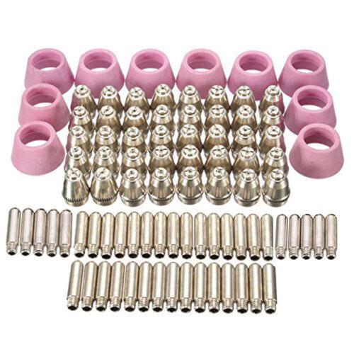 100PCS Plasma Cutter Torch Consumables Nozzle Tip Electrode For SG55 AG60 CUT-60
