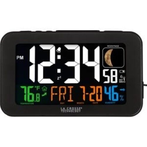La Crosse Technology 617-1485B LED Color Alarm Clock with US