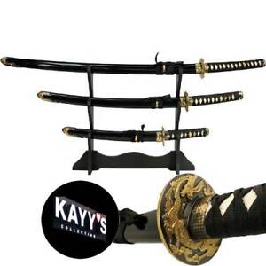 "Set/3 Last Samurai KATANA Sword Epee Couteau ""KAYY's Collection"""