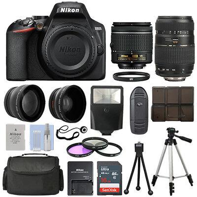Nikon D3500 DSLR Camera + 4 Lens Kit 18-55mm VR + 70-300mm + 16GB Top Value Kit