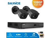 SANNCE 4/8CH 1080P HDMI DVR 720P Outdoor CCTV Security Camera System IR Motion
