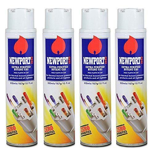 4 x Newport Butane Gas Extra Purified Zero Impurities Fuel T