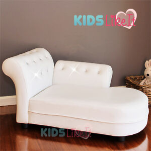 KIDS Toddlers PVC Leather / CRYSTAL PRINCESS SOFA / DAY COUCH / CHAISE LOUNGE