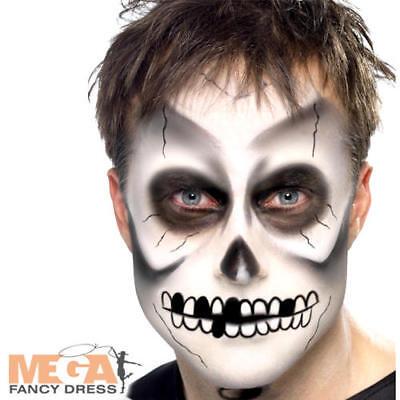Skeleton Facepaint Fancy Dress Costume Halloween Black & White Make Up Kit