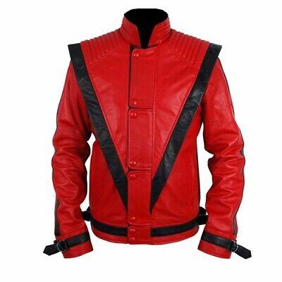 Michael Jackson Thriller Rot Echte Lederjacke ()