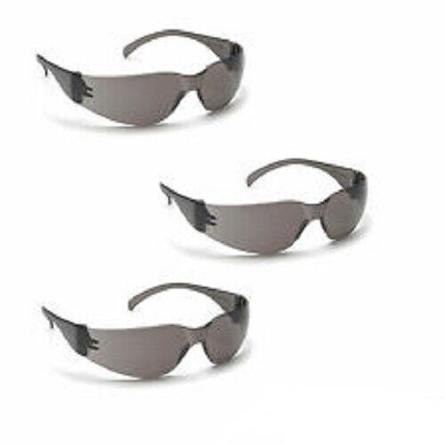 Pyramex S4120S INTRUDER Safety Glasses, Smoke/Gray Lens Z87.1, 3 Pair Pack Business & Industrial