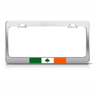 Irish Metal License Plate Frame (IRELAND FLAG IRISH Metal License Plate Frame Tag Holder )