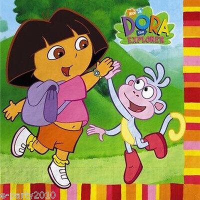 Dora The Explorer Birthday Party (DORA THE EXPLORER Fiesta LUNCH NAPKINS (16) ~ Birthday Party Supplies)
