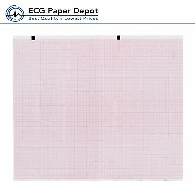 Schillerwelch Allyn Ecg Recording Paper Ekg Printing Chart 2157-012a Red 10pack