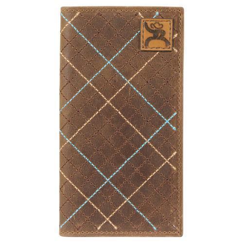 HOOey Western Youth Wallet Rodeo Crosshatch Tan 1781481W1
