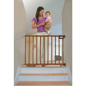 Brand new wood stair gate