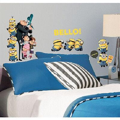 DESPICABLE ME 2 wall stickers 31 decals room decor MINIONS Agnus Margo Edith +](Minion Room Decor)