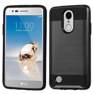 LG Fortune Phoenix 3 Aristo Rebel 2 K4 K8 (2017) Tough Sturdy Rugged Heavy Duty Dual Layer Armour Hybrid Protector Case