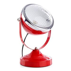 NEW Red Metal Industrial Vespa Headlight Table Lamp Light Exc Cond North Melbourne Melbourne City Preview