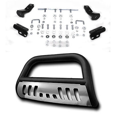 Black Front Bumper Bull Bar Grille Guard Skid Plate For 2004 & Up Ford F150