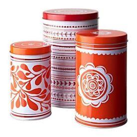 Ikea Vinterkul Storage Tins Christmas Cookies Coffee Tea Sugar Flour Pasta Candy