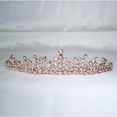 Deartiara Rose Gold Star Tiara Princess Diadem Prom Wedding Crown (Gold Princess Crown)