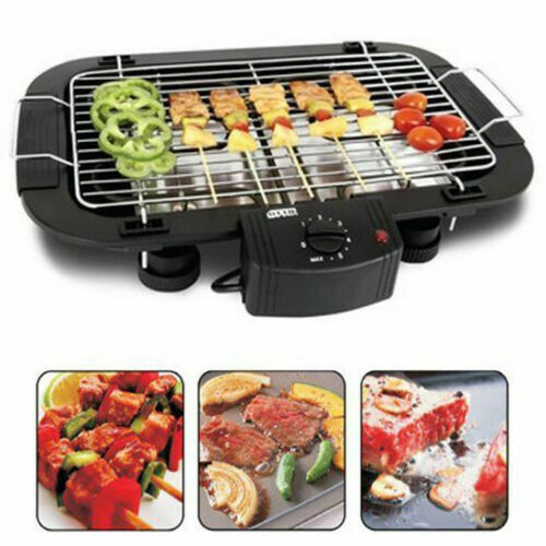 ELECTRIC BBQ BARBECUE GRILL GRIDDLE TABLE TOP CAMPING INDOOR