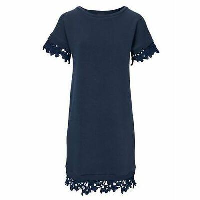 D2°7888 CASUAL KLEID VON HEINE IN MARINEBLAU GR. - Marine Kleid Blau
