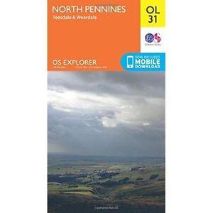North-Pennines-Teesdale-amp-Weardale-by-Ordnance-Survey-Sheet-map-folded