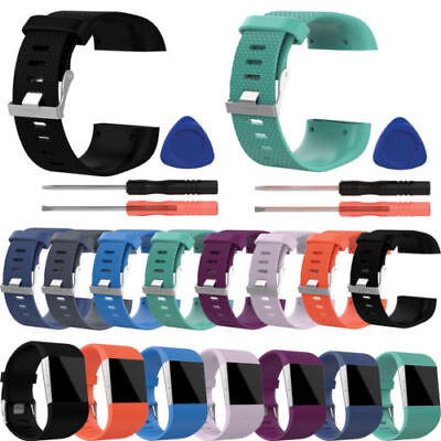 Replacement Wrist Band Strap for Fitbit Surge w/DIY Tool Kit (SAME DAY (Wristband Kit)
