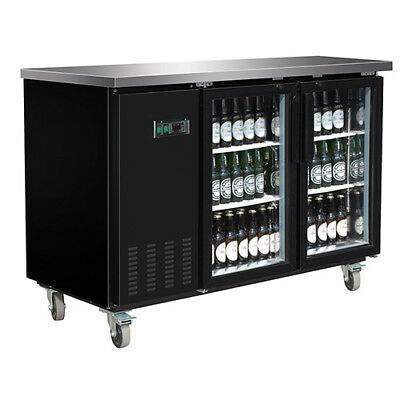 Central Exclusive 69k-106 Glass Door Back Bar Cooler 2 Doors