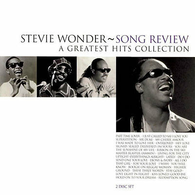 STEVIE WONDER Song Review A Greatest Hits Collection CD BRAND NEW Best (Stevie Wonder Best Hits)