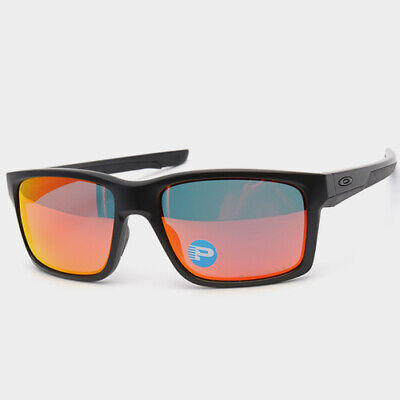 Oakley Mainlink POLARIZED Sunglasses OO9264-07 Matte Black W/ Ruby Iridium Lens