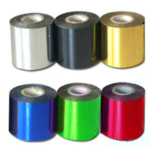 6 color Hot Stamping PVC foil paper 131yards Per roll