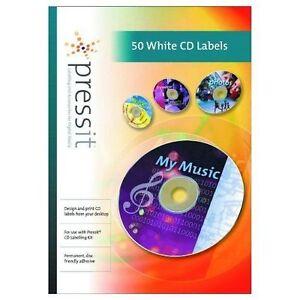 50 CD DVD WHITE MATT OFFSET PRESSIT LABELS A4